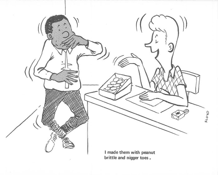 vintage comics black man office integration tom floyd31 5b9a086043707  700 - This Black Man Drew What It Was Like Being The Solely Black Man In A White Workplace In The 60s, And It's Worse Than You Suppose