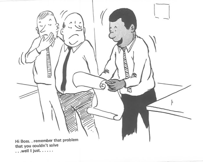 vintage comics black man office integration tom floyd32 5b9a0862182e5  700 - This Black Man Drew What It Was Like Being The Solely Black Man In A White Workplace In The 60s, And It's Worse Than You Suppose