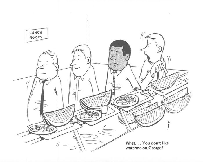 vintage comics black man office integration tom floyd36 5b9a086a00af5  700 - This Black Man Drew What It Was Like Being The Solely Black Man In A White Workplace In The 60s, And It's Worse Than You Suppose