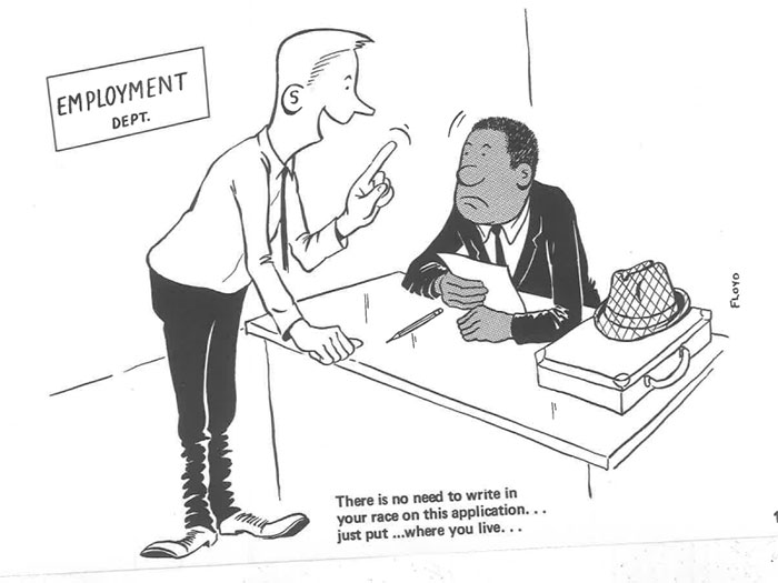 vintage comics black man office integration tom floyd4 5b9a08346125a  700 - This Black Man Drew What It Was Like Being The Solely Black Man In A White Workplace In The 60s, And It's Worse Than You Suppose