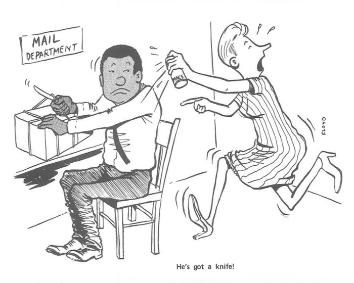 vintage comics black man office integration tom floyd40 5b9a0870d714e  700 - This Black Man Drew What It Was Like Being The Solely Black Man In A White Workplace In The 60s, And It's Worse Than You Suppose