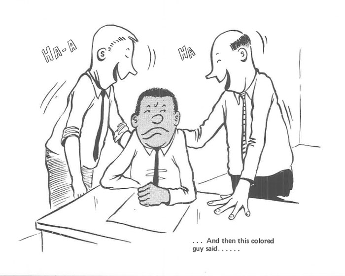 vintage comics black man office integration tom floyd41 5b9a0872d9e5a  700 - This Black Man Drew What It Was Like Being The Solely Black Man In A White Workplace In The 60s, And It's Worse Than You Suppose