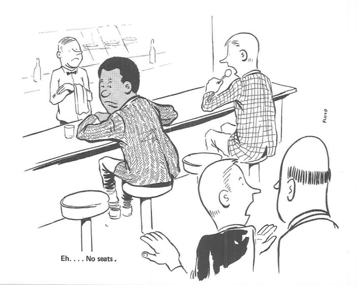 vintage comics black man office integration tom floyd45 5b9a087b2d371  700 - This Black Man Drew What It Was Like Being The Solely Black Man In A White Workplace In The 60s, And It's Worse Than You Suppose