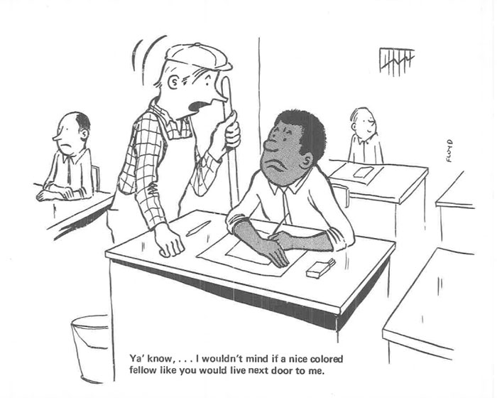 vintage comics black man office integration tom floyd49 5b9a0883c88b8  700 - This Black Man Drew What It Was Like Being The Solely Black Man In A White Workplace In The 60s, And It's Worse Than You Suppose