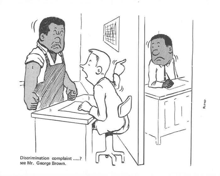 vintage comics black man office integration tom floyd51 5b9a0887de069  700 - This Black Man Drew What It Was Like Being The Solely Black Man In A White Workplace In The 60s, And It's Worse Than You Suppose