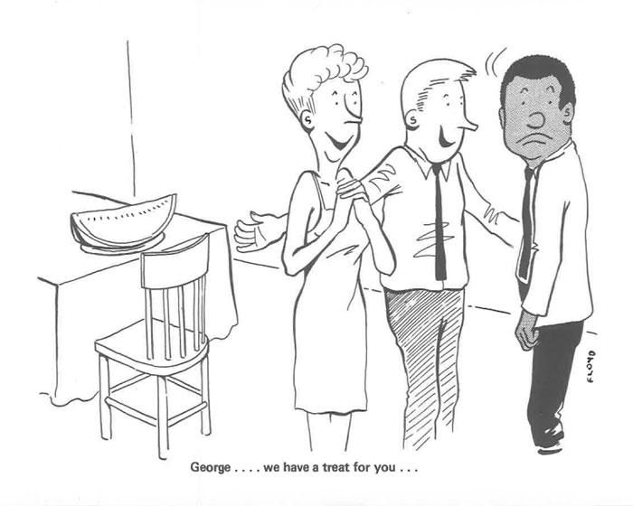 vintage comics black man office integration tom floyd52 5b9a08899b1fe  700 - This Black Man Drew What It Was Like Being The Solely Black Man In A White Workplace In The 60s, And It's Worse Than You Suppose