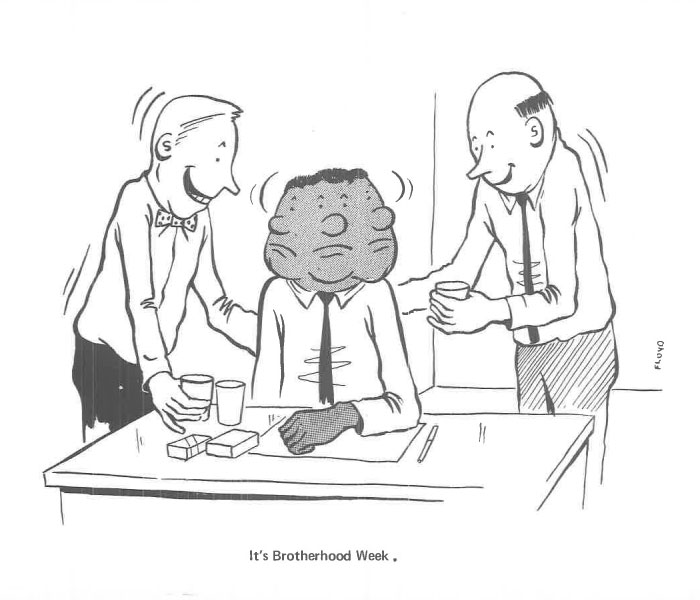 vintage comics black man office integration tom floyd53 5b9a088bacf87  700 - This Black Man Drew What It Was Like Being The Solely Black Man In A White Workplace In The 60s, And It's Worse Than You Suppose