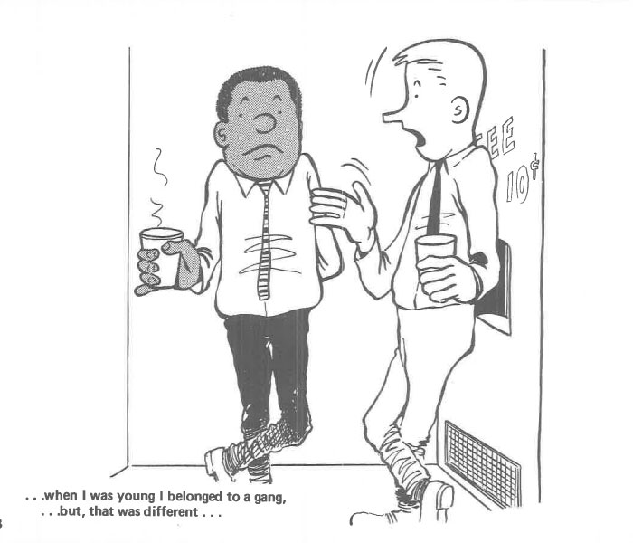 vintage comics black man office integration tom floyd61 5b9a089b6e2dd  700 - This Black Man Drew What It Was Like Being The Solely Black Man In A White Workplace In The 60s, And It's Worse Than You Suppose