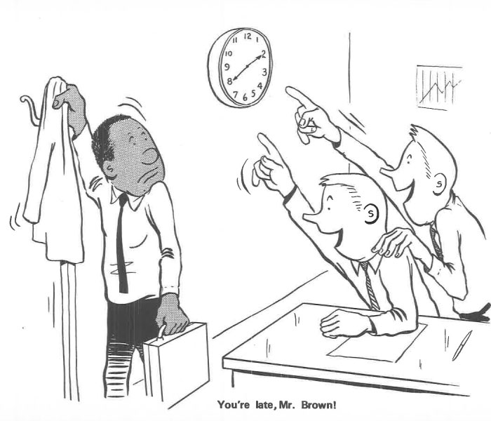 vintage comics black man office integration tom floyd63 5b9a089f6c709  700 - This Black Man Drew What It Was Like Being The Solely Black Man In A White Workplace In The 60s, And It's Worse Than You Suppose