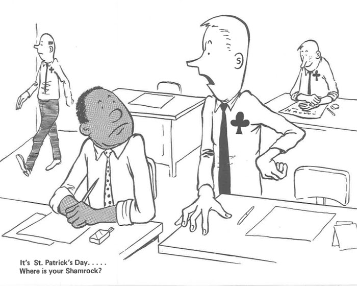 vintage comics black man office integration tom floyd66 5b9a08a4e3d9d  700 - This Black Man Drew What It Was Like Being The Solely Black Man In A White Workplace In The 60s, And It's Worse Than You Suppose