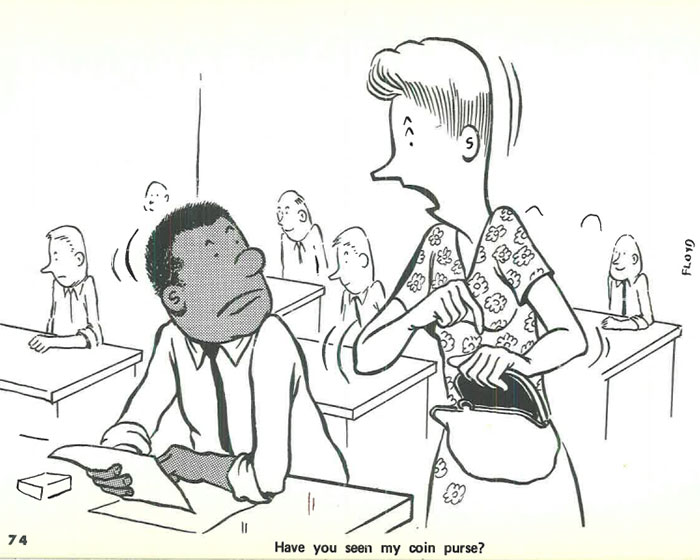 vintage comics black man office integration tom floyd67 5b9a08a6cf009  700 - This Black Man Drew What It Was Like Being The Solely Black Man In A White Workplace In The 60s, And It's Worse Than You Suppose