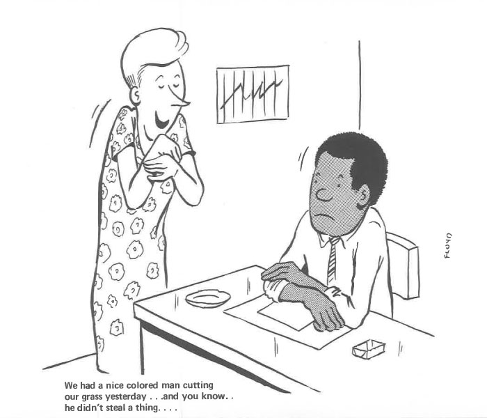 vintage comics black man office integration tom floyd68 5b9a08a9e236e  700 - This Black Man Drew What It Was Like Being The Solely Black Man In A White Workplace In The 60s, And It's Worse Than You Suppose