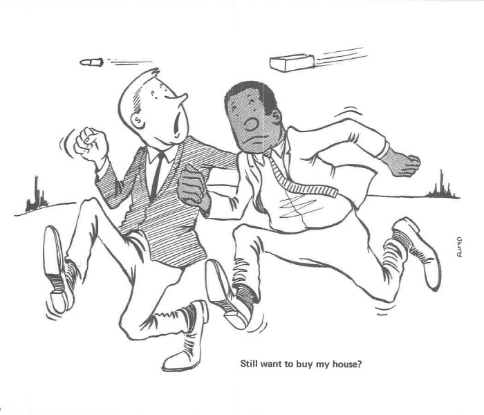 vintage comics black man office integration tom floyd69 5b9a08abbbe09  700 - This Black Man Drew What It Was Like Being The Solely Black Man In A White Workplace In The 60s, And It's Worse Than You Suppose