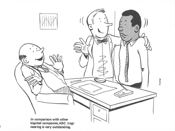 vintage comics black man office integration tom floyd7 5b9a083a96de1  700 - This Black Man Drew What It Was Like Being The Solely Black Man In A White Workplace In The 60s, And It's Worse Than You Suppose