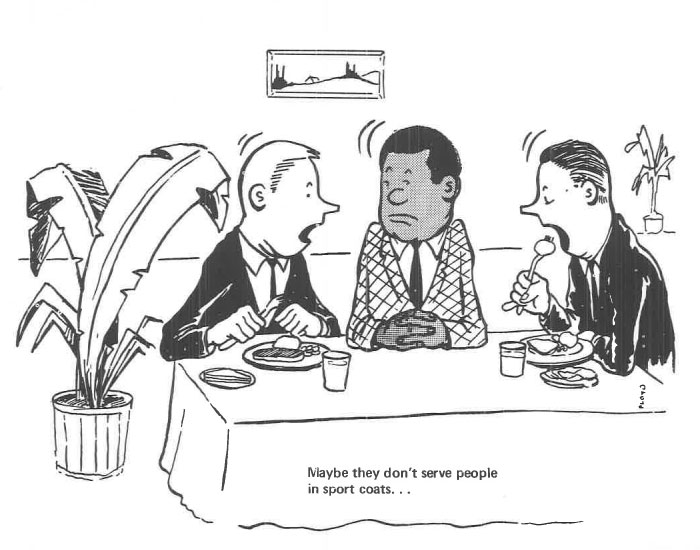 vintage comics black man office integration tom floyd75 5b9a08b962dd3  700 - This Black Man Drew What It Was Like Being The Solely Black Man In A White Workplace In The 60s, And It's Worse Than You Suppose