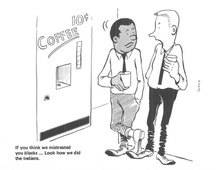 vintage comics black man office integration tom floyd79 5b9a08c470ae3  700 - This Black Man Drew What It Was Like Being The Solely Black Man In A White Workplace In The 60s, And It's Worse Than You Suppose