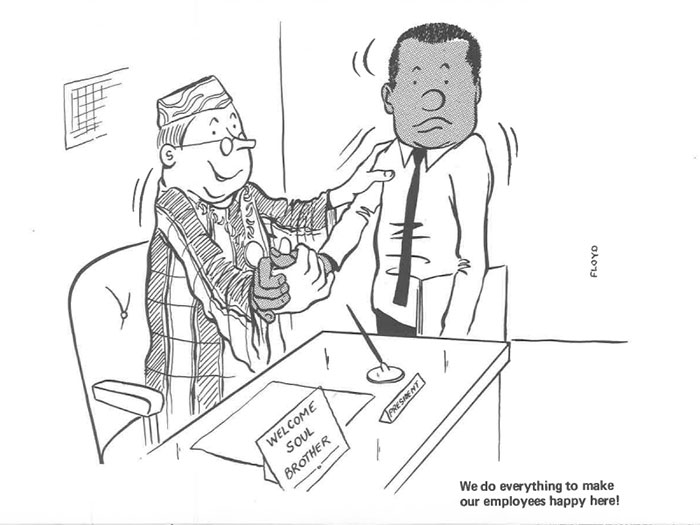 vintage comics black man office integration tom floyd8 5b9a083c50aab  700 - This Black Man Drew What It Was Like Being The Solely Black Man In A White Workplace In The 60s, And It's Worse Than You Suppose