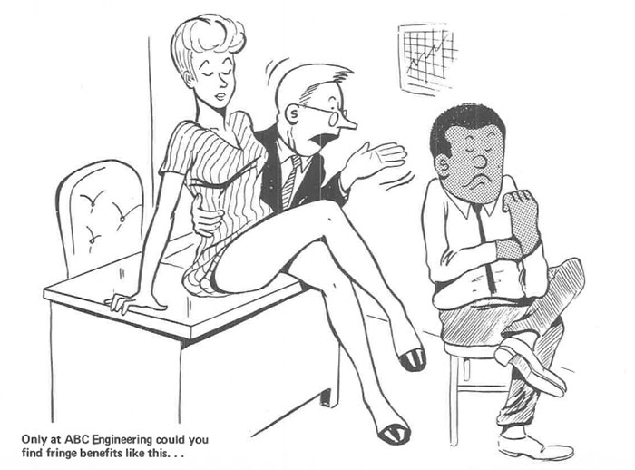 vintage comics black man office integration tom floyd83 5b9a08ce0a973  700 - This Black Man Drew What It Was Like Being The Solely Black Man In A White Workplace In The 60s, And It's Worse Than You Suppose