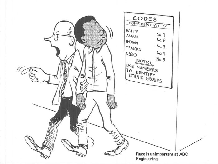 vintage comics black man office integration tom floyd9 5b9a083dc94cf  700 - This Black Man Drew What It Was Like Being The Solely Black Man In A White Workplace In The 60s, And It's Worse Than You Suppose