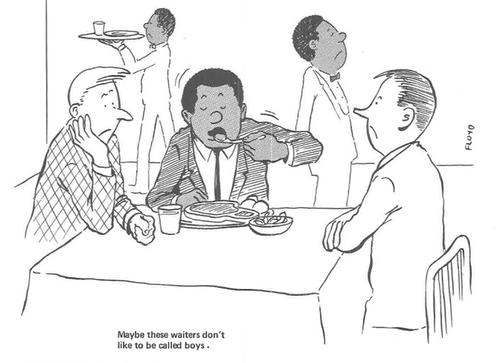vintage comics black man office integration tom floyd97 5b9a08efd4afa  700 - This Black Man Drew What It Was Like Being The Solely Black Man In A White Workplace In The 60s, And It's Worse Than You Suppose
