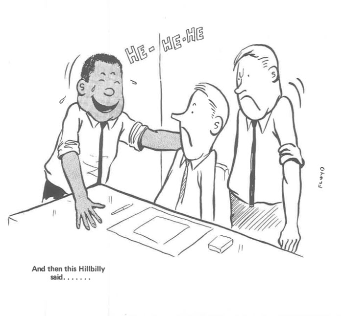 vintage comics black man office integration tom floyd98 5b9a08f2eec22  700 - This Black Man Drew What It Was Like Being The Solely Black Man In A White Workplace In The 60s, And It's Worse Than You Suppose