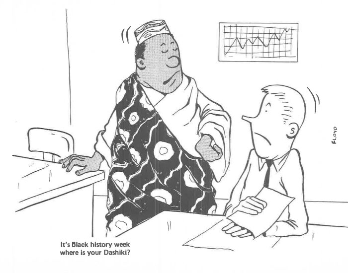 vintage comics black man office integration tom floyd99 5b9a08f4e0ff7  700 - This Black Man Drew What It Was Like Being The Solely Black Man In A White Workplace In The 60s, And It's Worse Than You Suppose
