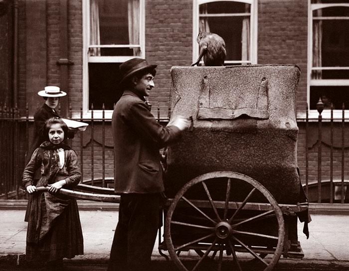 Organ Grinder And Daughter, London