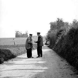Two Men On Road, France