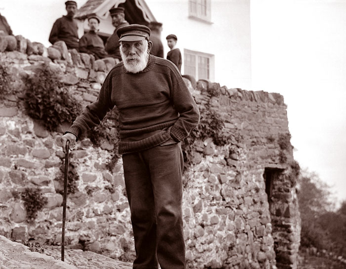Oldest Man In Clovelly, England