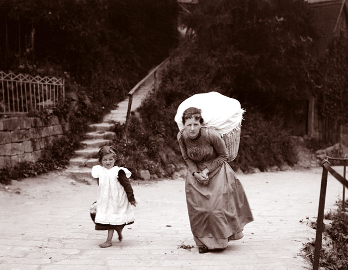 Woman With Heavy Basket, Location Uncertain