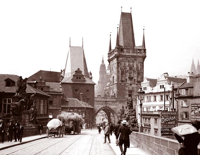 On The Charles Bridge, Prague, Czechoslovakia