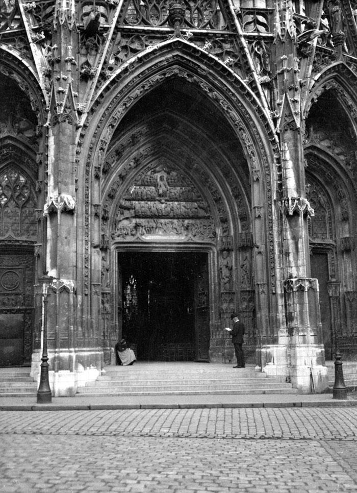 Ornate Doorway- Eglise St. Maclou, Rouen, France