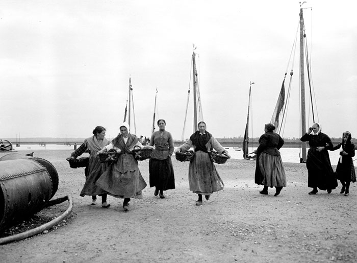 Group Of Women On The Shore, France