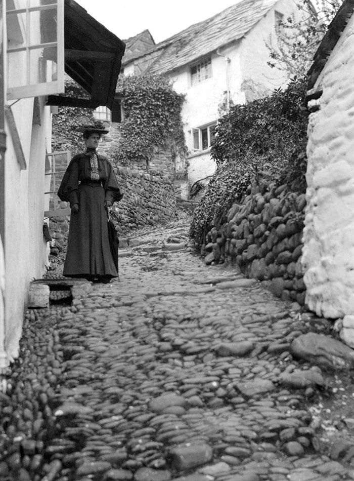 Steep Street, Clovelly, Devon, England