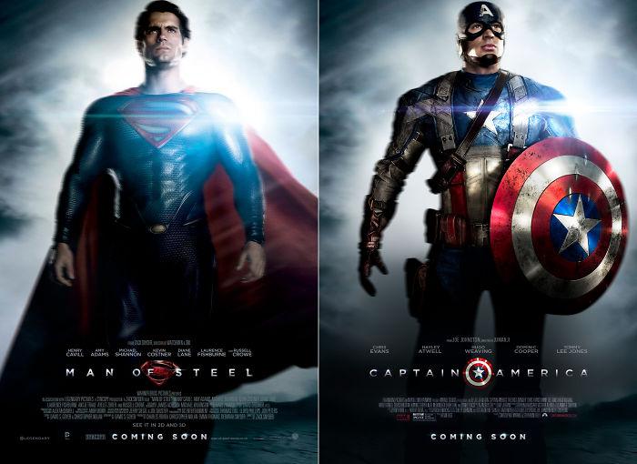 "Captain America In ""Man Of Steel"""