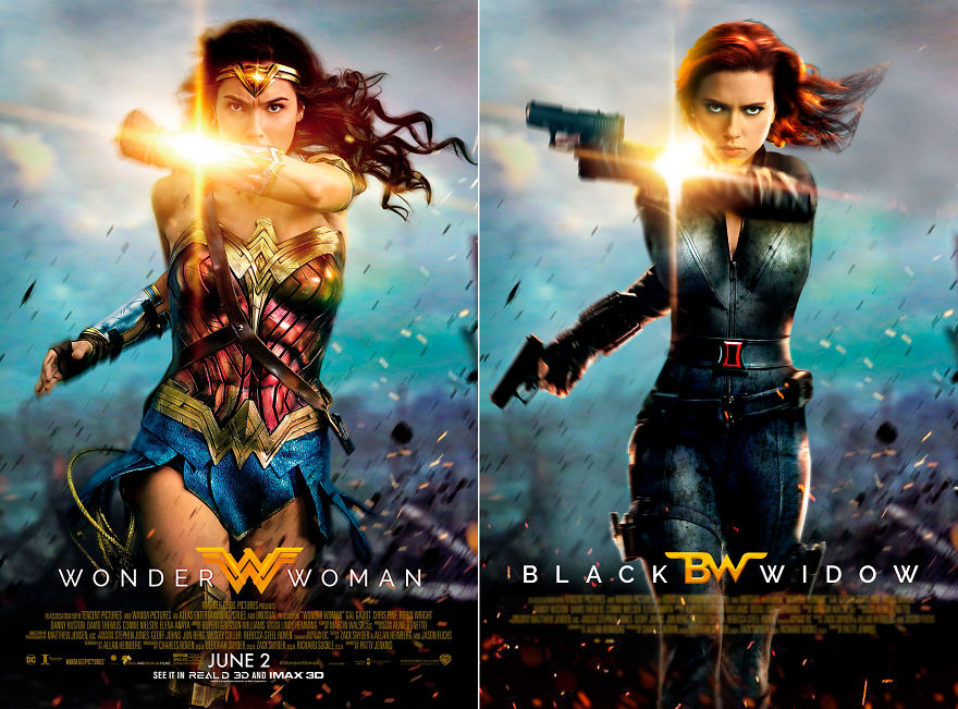 "Black Widow In ""Wonder Woman"""