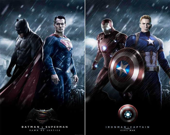 "Iron Man And Captain America In ""Batman V Superman"""