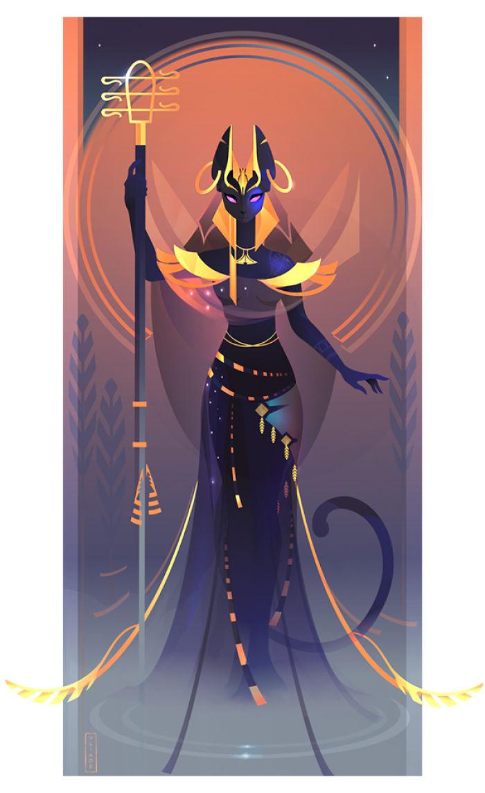 Bastet - Göttin der Häuslichkeit, Geheimnisse der Frauen, Katzen und Fruchtbarkeit