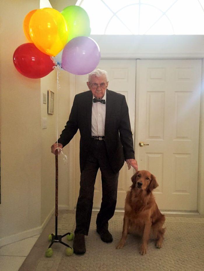 Mi abuelo y su perro