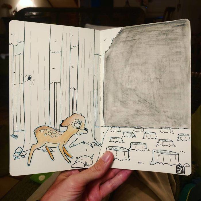 Bambi und die Abholzung der Wälder