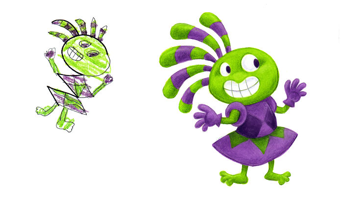I Spent The Last 2 Years Drawing 300 Monsters Based On Kid Drawings