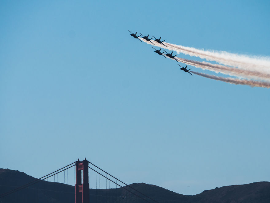 I Photographed The United States Navy Blue Angel In The San Francisco Bay