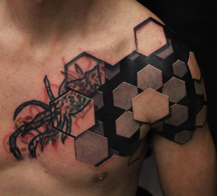 This Tattoo Artist's 3d Tattoos Illustrate Incredible Worlds Underneath The Skin
