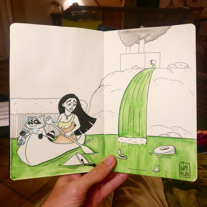 Pocahontas und Flussverschmutzung