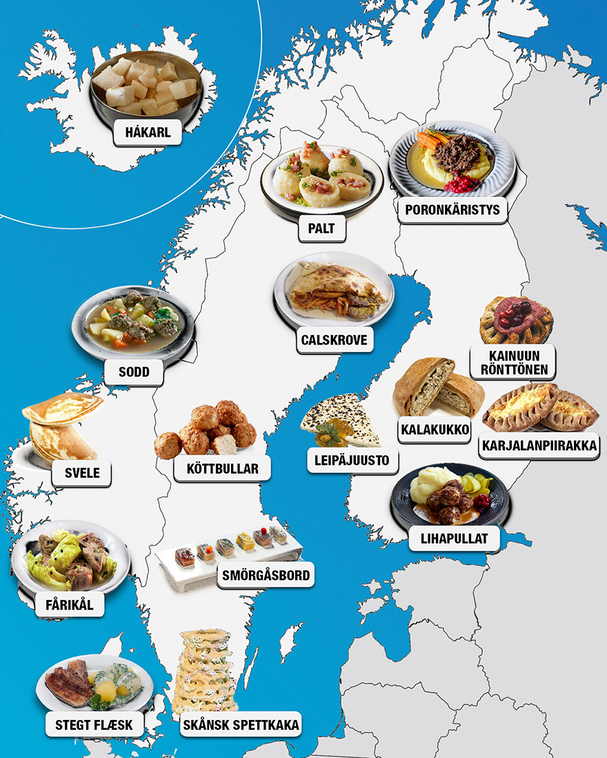 30 Maps Reveal The Tastiest Dishes Around The World ...