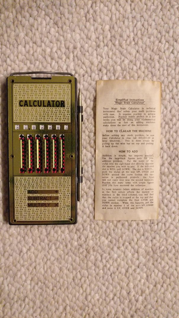 Found This Old Calculator In My Great Grandmother's Attic