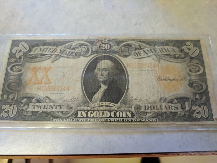 A 111 Year Old Gold Note We Found Under A Couch At An Estate Cleaning