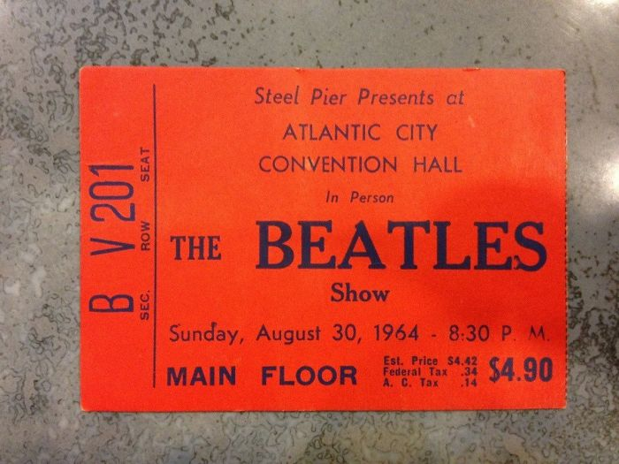 My Mom Found The Ticket From Her First Beatles Concert, From 1964