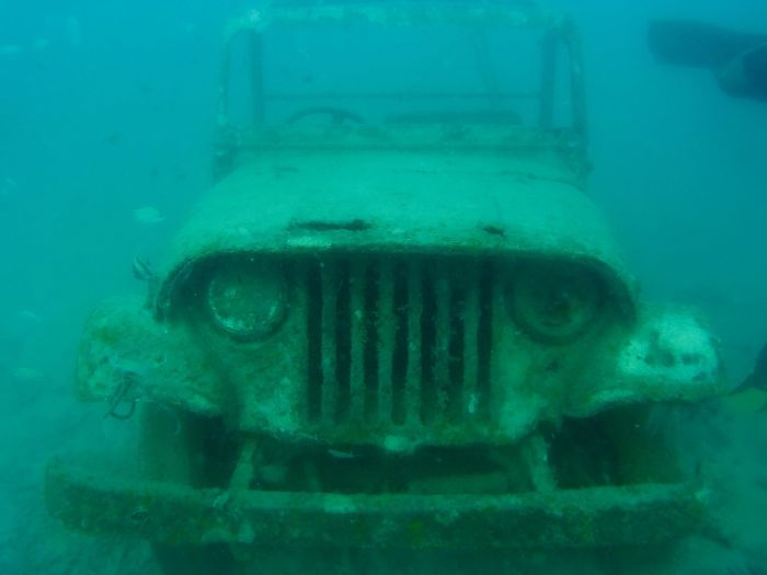 Found A Submerged Jeep While Scuba Diving