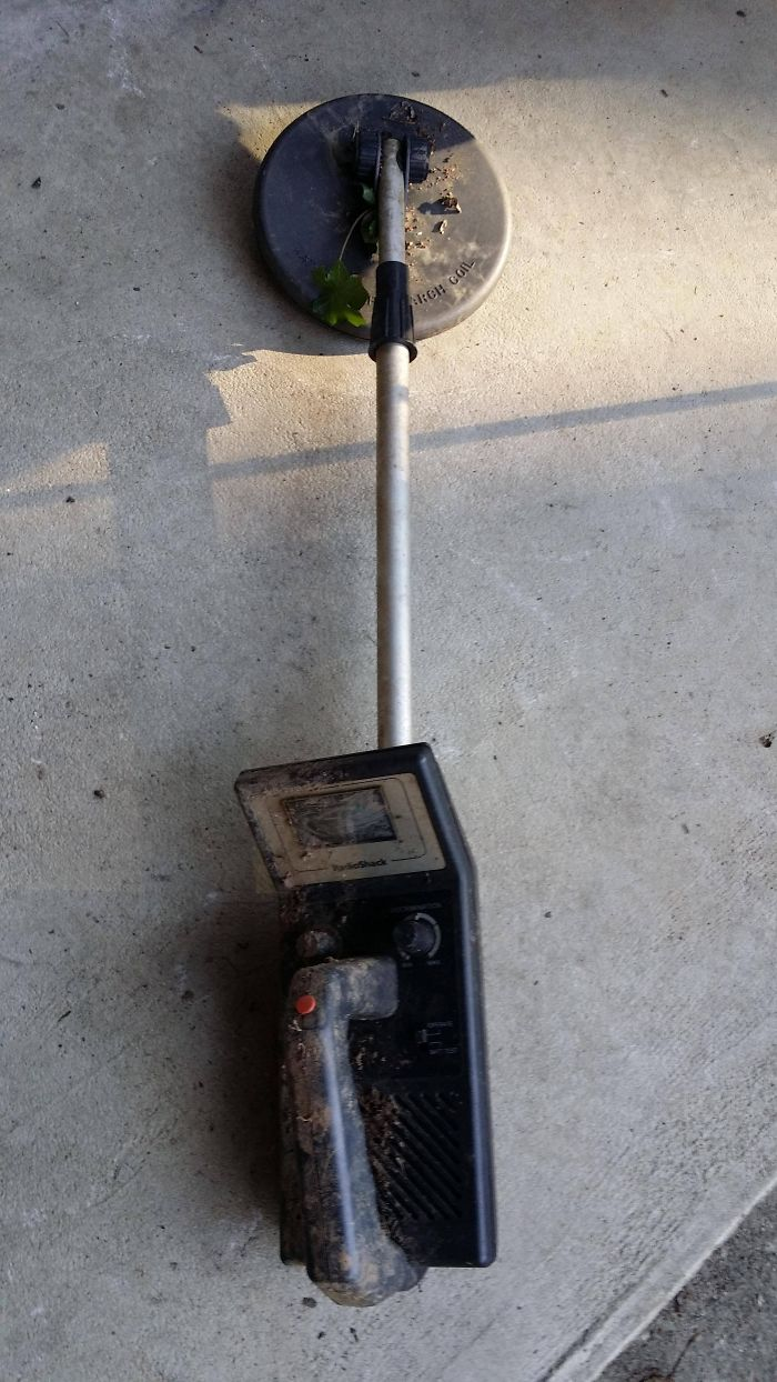 My 11-Year Old Son Asked For And Received A Metal Detector For Christmas. He Took It Out On My Parent's Property, And This Was One Of The First Things He Found. It Is Not Anyone's In The Family